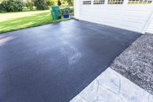 Newly Blacktop Sealed Asphalt Driveway